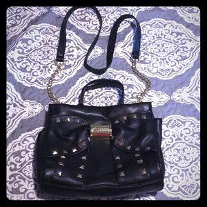 Betsy Johnson studded purse w/ removable strap